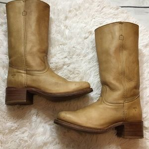 Frye Men's Vintage Tan Leather Tall Campus Boots